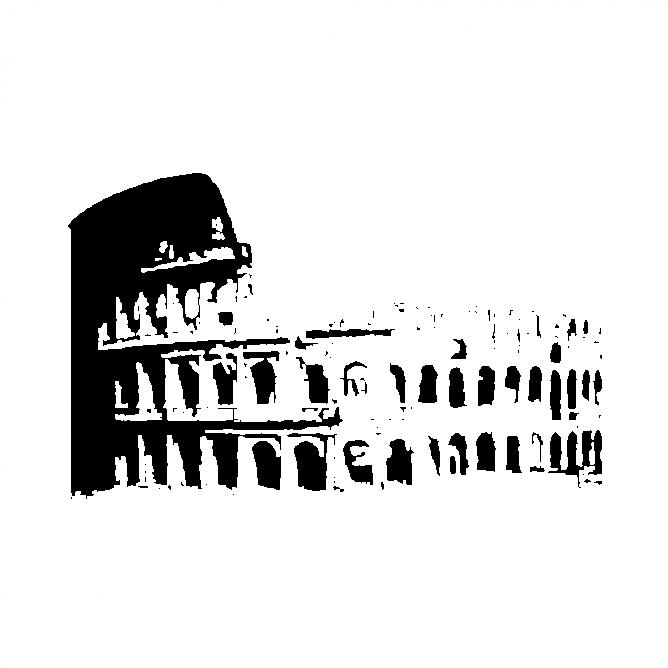 Rome Colisée Italie Mural Sticker Autocollant d0521
