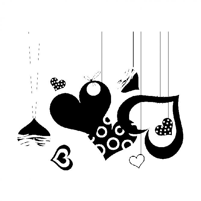 Amour Coeur Suspendus