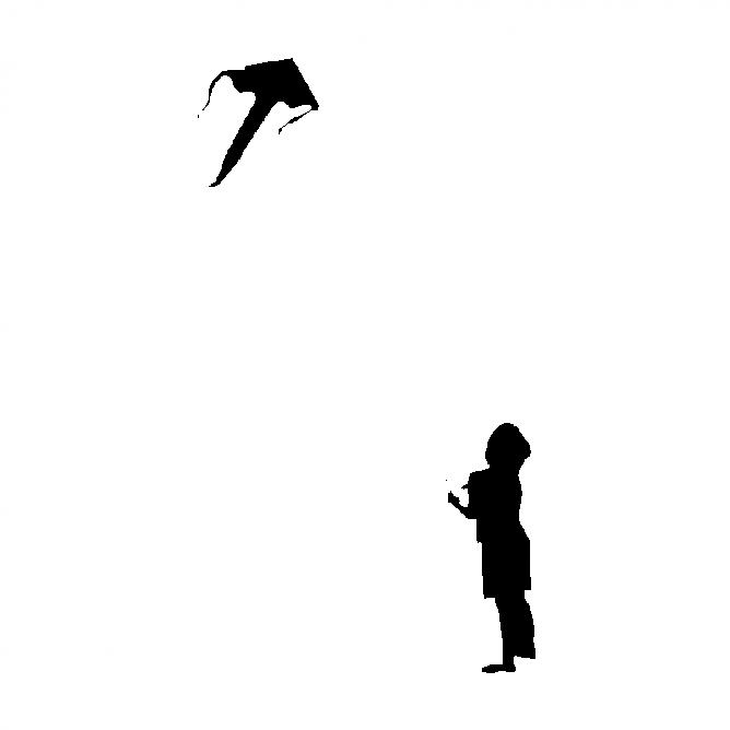Garçon et Cerf-Volant