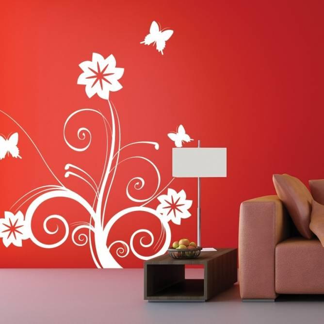 Fleurs avec Papillons