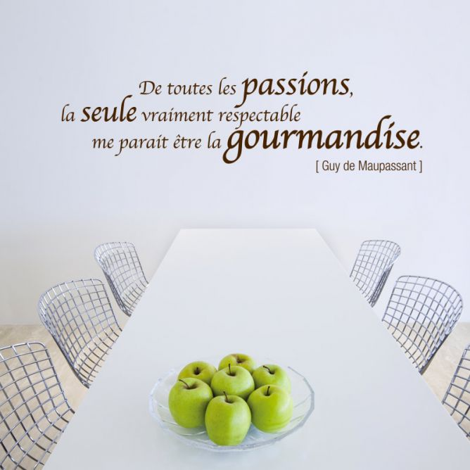Citation Passion et Gourmandise